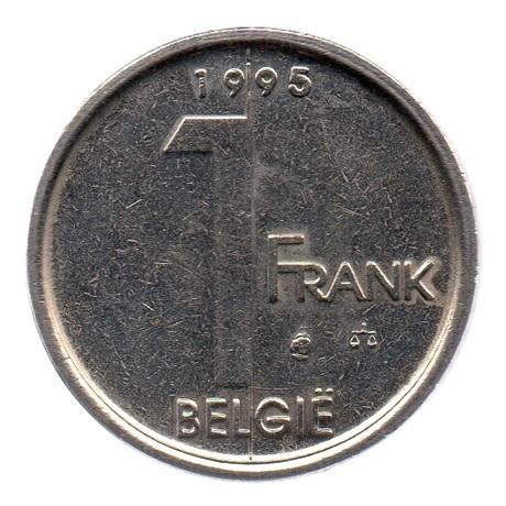 (W023.100.1995.1.1.ttb.000000001) 1 Franc Albert II 1995 – Légende flamande Revers