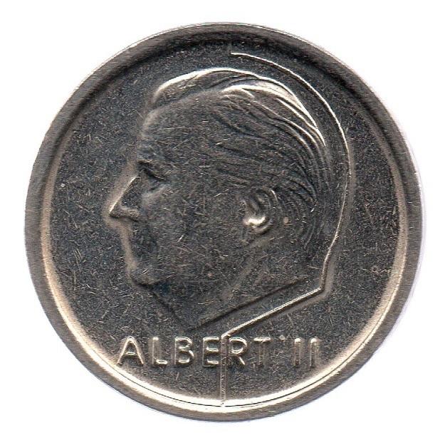 (W023.100.1995.1.1.ttb.000000001) 1 Franc King Albert II 1995 – Flemish legend Obverse (zoom)