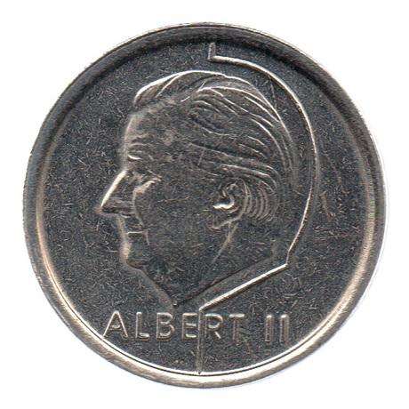(W023.100.1996.1.1.sup.000000001) 1 Franc Albert II 1996 – Légende flamande Avers