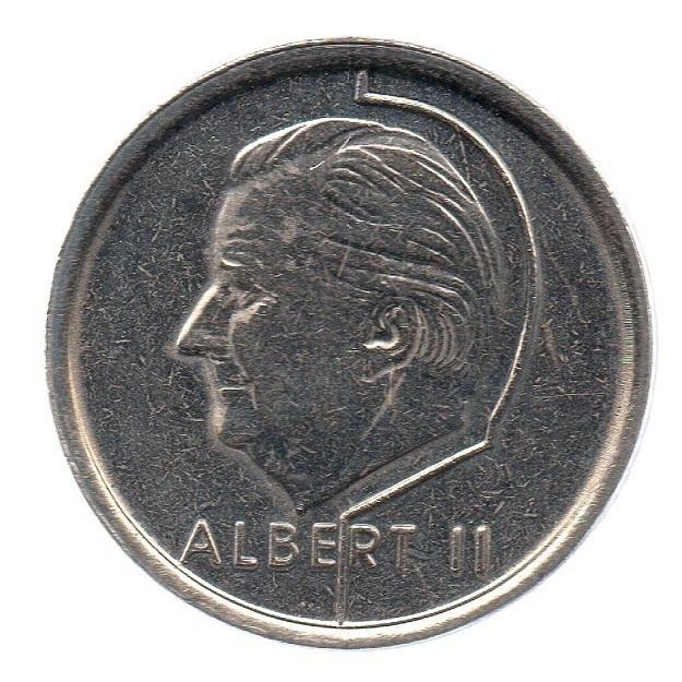 (W023.100.1996.1.1.sup.000000001) 1 Franc King Albert II 1996 – Flemish legend Obverse (zoom)