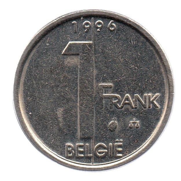 (W023.100.1996.1.1.sup.000000001) 1 Franc King Albert II 1996 – Flemish legend Reverse (zoom)