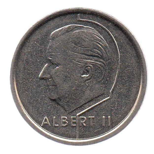 (W023.100.1997.1.ttb.000000001) 1 Franc King Albert II 1997 Obverse (zoom)