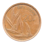 (W023.2000.1980.1.tb.000000001) 20 Francs Baudouin 1980 Revers