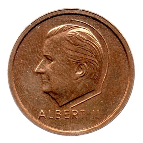 (W023.2000.1994.1.1.sup.000000001) 20 Francs Albert II 1994 - Légende flamande Avers