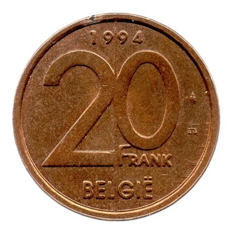 (W023.2000.1994.1.1.sup.000000001) 20 Francs Albert II 1994 - Légende flamande Revers