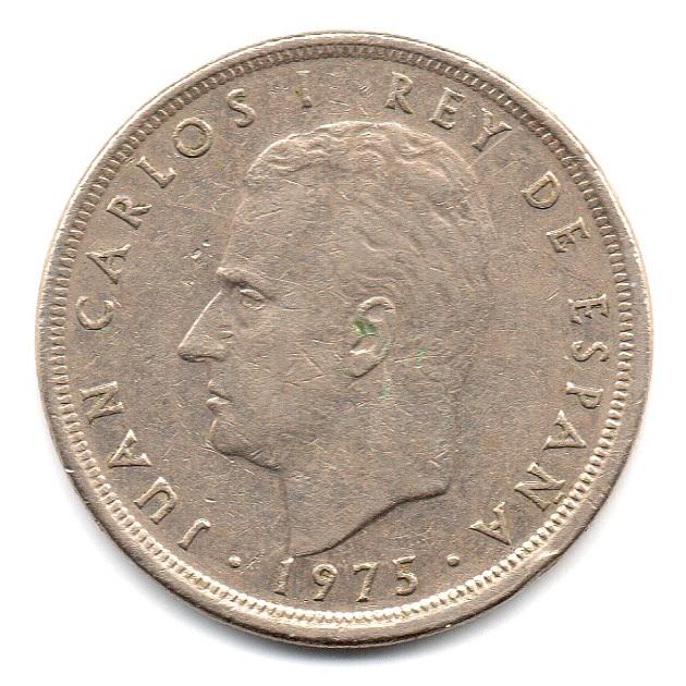 (W064.005.1975.1.3.tb.plus.000000001) 5 Pesetas King Juan Carlos 1st 1975 Obverse (zoom)