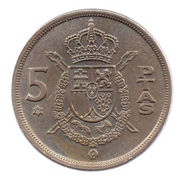 (W064.005.1975.1.3.ttb.000000001) 5 Pesetas King Juan Carlos 1st 1975 Reverse (zoom)