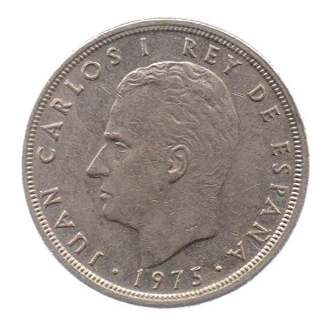 (W064.005.1975.1.4.ttb.000000001) 5 Pesetas King Juan Carlos 1st 1975 Obverse (zoom)
