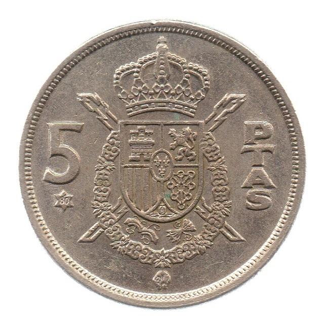 (W064.005.1975.1.4.ttb.000000001) 5 Pesetas King Juan Carlos 1st 1975 Reverse (zoom)