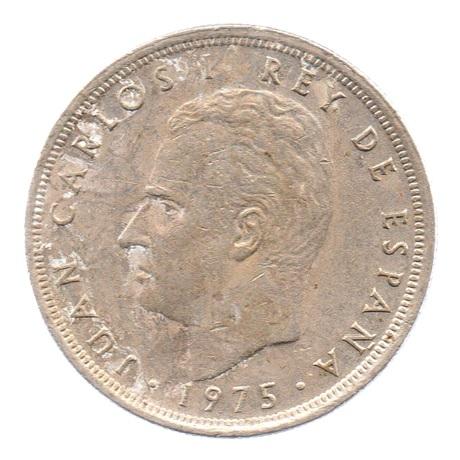 (W064.005.1975.1.4.ttb.000000002) 5 Pesetas Juan Carlos Ier 1975 (80 dans l'étoile) Avers