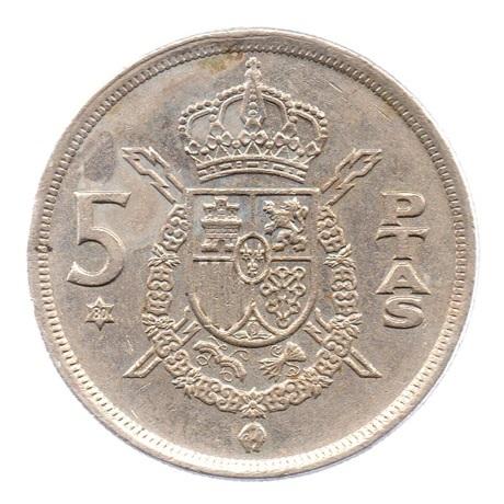 (W064.005.1975.1.4.ttb.000000002) 5 Pesetas Juan Carlos Ier 1975 (80 dans l'étoile) Revers