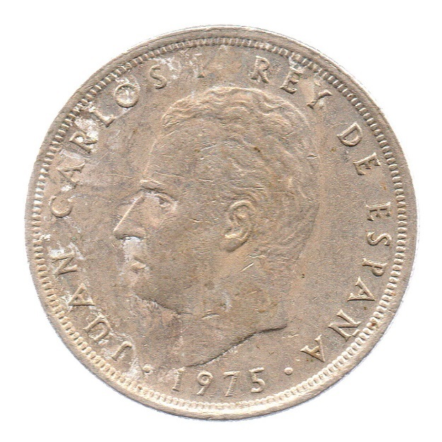 (W064.005.1975.1.4.ttb.000000002) 5 Pesetas King Juan Carlos 1st 1975 Obverse (zoom)