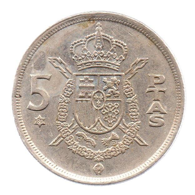 (W064.005.1975.1.4.ttb.000000002) 5 Pesetas King Juan Carlos 1st 1975 Reverse (zoom)