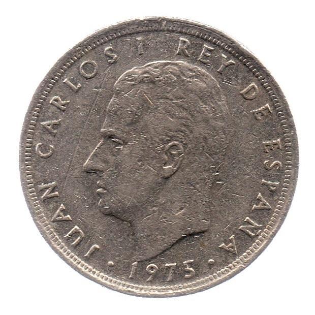 (W064.005.1975.1.4.ttb.000000003) 5 Pesetas King Juan Carlos 1st 1975 Obverse (zoom)