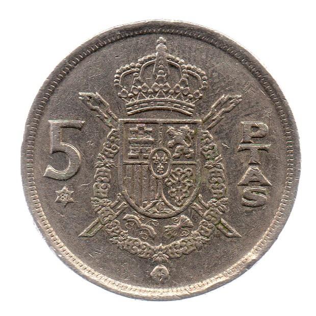 (W064.005.1975.1.4.ttb.000000003) 5 Pesetas King Juan Carlos 1st 1975 Reverse (zoom)