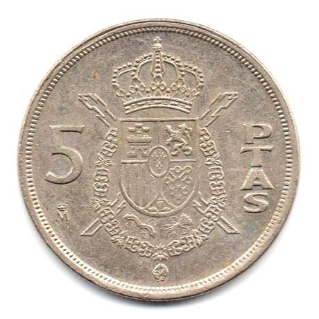 (W064.005.1983.1.ttb.plus.sup.000000001) 5 Pesetas Juan Carlos Ier 1983 Revers