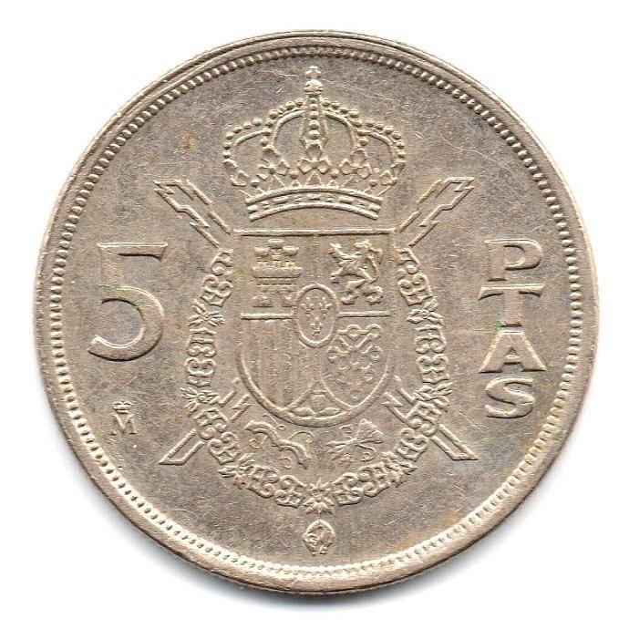 (W064.005.1983.1.ttb.plus.sup.000000001) 5 Pesetas King Juan Carlos 1st 1983 Reverse (zoom)