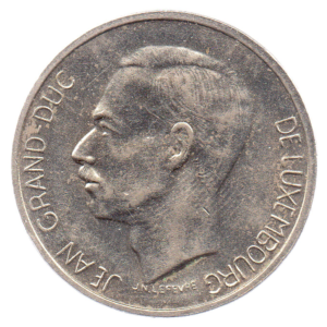 (W135.1000.1974.1.sup+[]spl.000000001) 10 Francs Grand Duke Jean of Luxembourg 1974 Obverse (zoom)