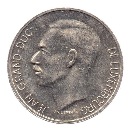 (W135.1000.1976.1.sup+[]spl.000000001) 10 Francs Grand-Duc Jean de Luxembourg 1976 Avers