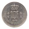 (W135.1000.1976.1.sup+[]spl.000000001) 10 Francs Grand-Duc Jean de Luxembourg 1976 Revers