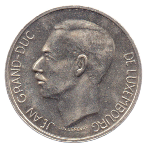 (W135.1000.1976.1.sup+[]spl.000000001) 10 Francs Grand Duke Jean of Luxembourg 1976 Obverse (zoom)