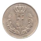 (W135.500.1971.1.ttb.000000001) 5 Francs Grand-Duc Jean de Luxembourg 1971 Revers