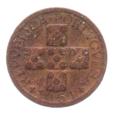 (W176.0100.1951.1.10.b.000000001) 10 Centavos aux cinq écussons en croix 1951 Avers