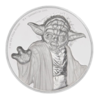 5 dollars Niue 2018 2 onces argent BE - Yoda Revers