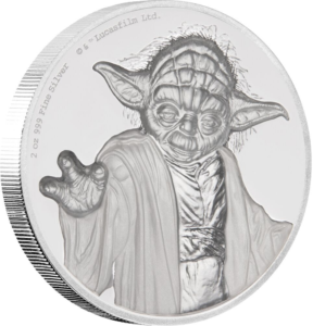 5 dollars Niue 2018 2 oz Proof fine silver - Master Yoda Reverse (additional picture) (zoom)