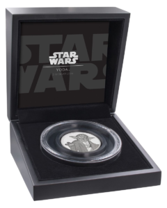 5 dollars Niue 2018 2 oz Proof fine silver - Master Yoda (case) (zoom)