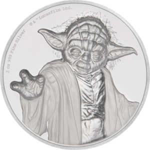5 dollars Niue 2018 2 oz Proof fine silver - Yoda Reverse (zoom)