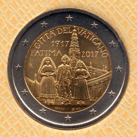 (EUR19.ComBU&BE.2017.200.BU.COM2.000000002) 2 euro commémorative Vatican 2017 BU - Fátima Avers
