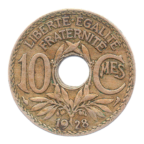 (FMO.010.1928.7.15.tb.000000001) 10 centimes Lindauer 1928 Revers
