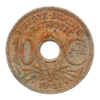 (FMO.010.1932.7.19.b.000000001) 10 centimes Lindauer 1932 Revers