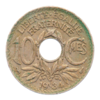 (FMO.010.1934.7.21.b+.000000001) 10 centimes Lindauer 1934 Revers