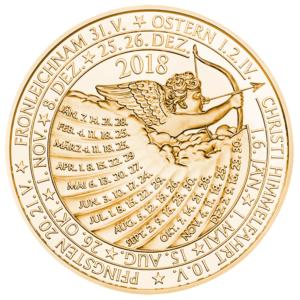 (MED01.Méd.MünzeÖ.2018.CuSn2) Bronze medal - Calendar 2018 Reverse (zoom)
