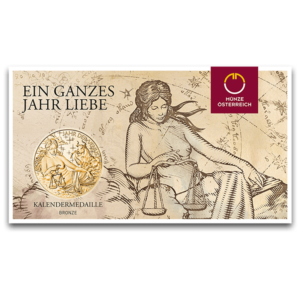 (MED01.Méd.MünzeÖ.2018.CuSn2) Bronze medal - Calendar 2018 (packaging) (zoom)