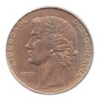 (W176.25.1977.1.ttb[]sup.000000001) 25 Escudos Liberté et Démocratie, petit module 1977 Avers