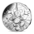 10 euro France 2018 argent - Mickey aux pieds de la Dame de fer Avers
