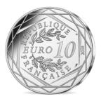10 euro France 2018 argent - Mickey aux pieds de la Dame de fer Revers