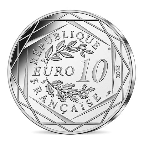 10 euro France 2018 argent - Mickey fait le compte à rebours Revers