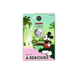 10 euro France 2018 argent - Mickey fait le compte à rebours (packaging) (zoom)