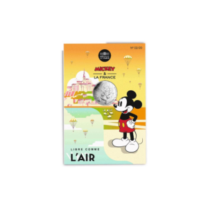 10 euro France 2018 argent - Mickey libre comme l'air (packaging) (zoom)