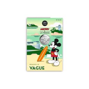 10 euro France 2018 argent - Mickey surfe (packaging) (zoom)
