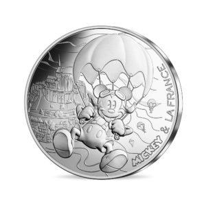 10 euro France 2018 silver - Mickey free as a bird Obverse (zoom)