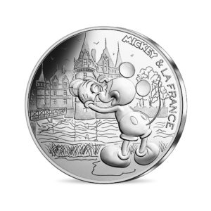 10 euro France 2018 silver - Mickey visiting the Loire castles Obverse (zoom)