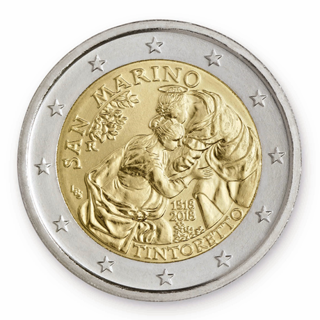 2 euro commémorative Saint-Marin 2018 - Tintoretto