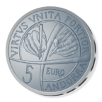 5 euro Andorre 2018 argent BE - Constitution d'Andorre Revers