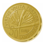 50 euro Andorre 2018 or BE - Constitution d'Andorre Revers