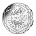 50 euro France 2018 silver - 14 July, French National Day Reverse
